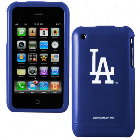 L.a. Dodgers Royal Blue Team Logo Iphone Casr