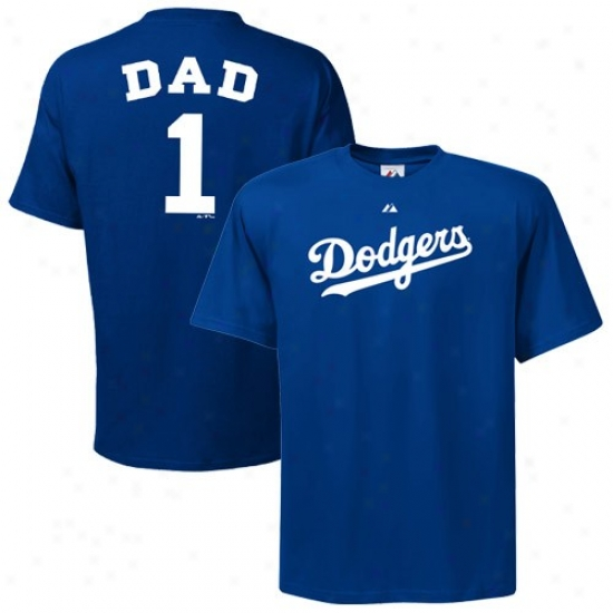 L.a. Dodgers Shirts : Majestic L.a. Dodgers Royal Melancholy #1 Dad Shirts