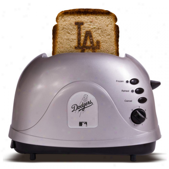 L.a. Dodgers Silver Team Logo Pdo Toaster