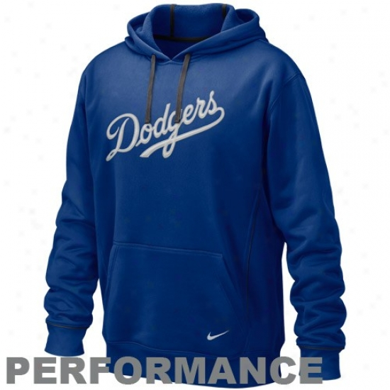 L.a. Dodfers Sweatshirts : Nike L.a. Dodgers Royal Blue Pickle Pdrformance Sweatshirts