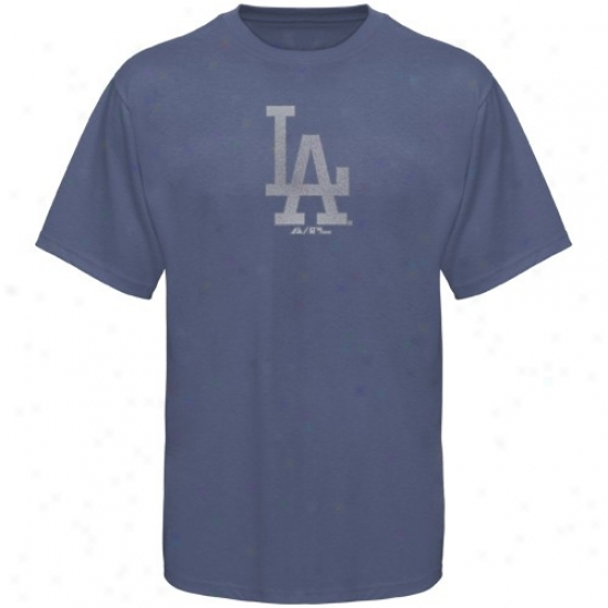 L.a. Dodgers Tees : Majestic L.a. Dodgers Youth Royal Blue Big Time Play Tees