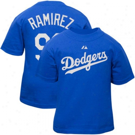 L.a. Dodgers Tshirts : Majestic L.a. Dodgers #99 Manny Ramirez Toddler Royal Blue Player Tshirts