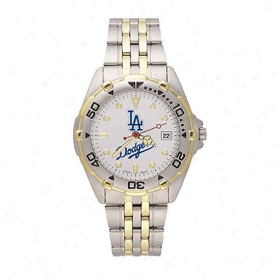 L.a. Dodgers Watch : Los Angeles Dodgers Men's All-star Watch W/stainless Steel Bahd