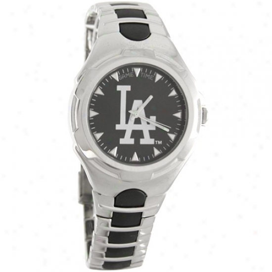 L.a. Dodgers Wrist Watch : L.a. Dodgers Stainless Steel Conquest Wrist Watch