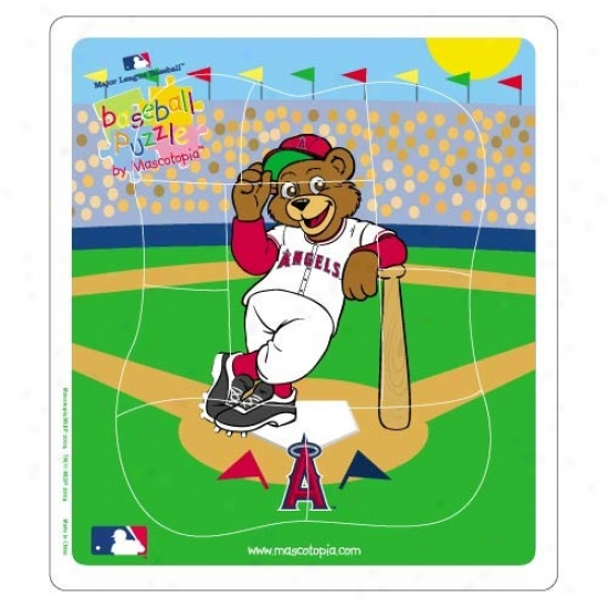 Los Angeles Angels Of Anaheim Baseball Puzzle