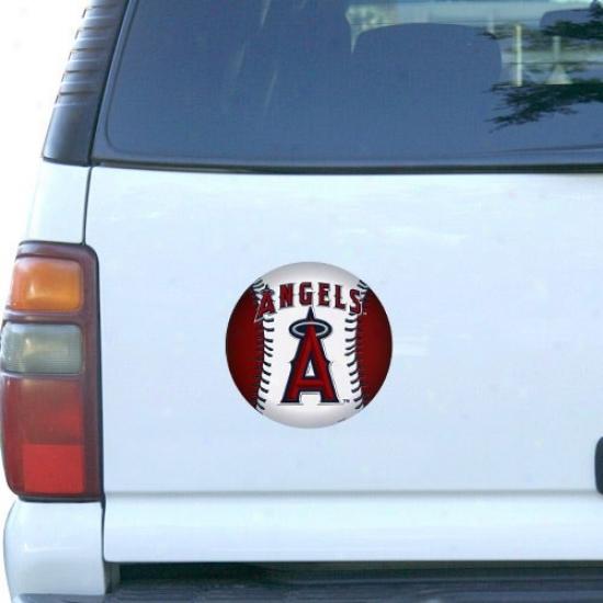 Los Angeles Angels Of Anaheim Baseball Team Logo Car Magnet