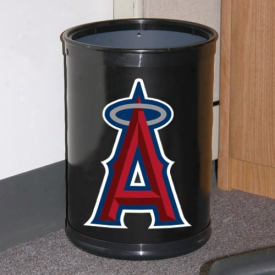 Los Angeles Angels Of Anahekm Black Team Wastebasket