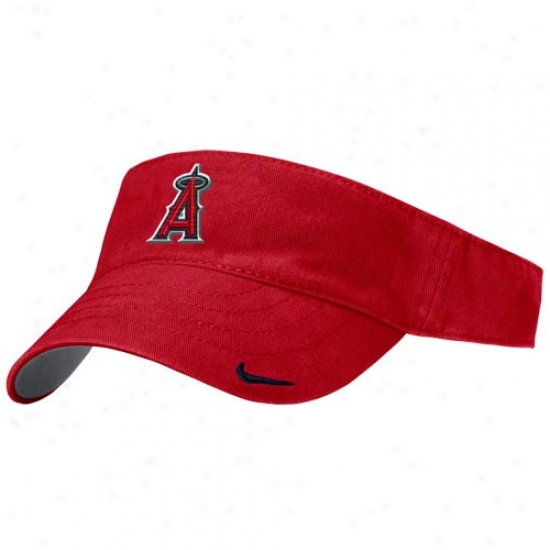 Los Angelez Angels Of Anaheim Cap : Nike Los Angeles Angels Of Anaheim Ladies Red Classic Visor