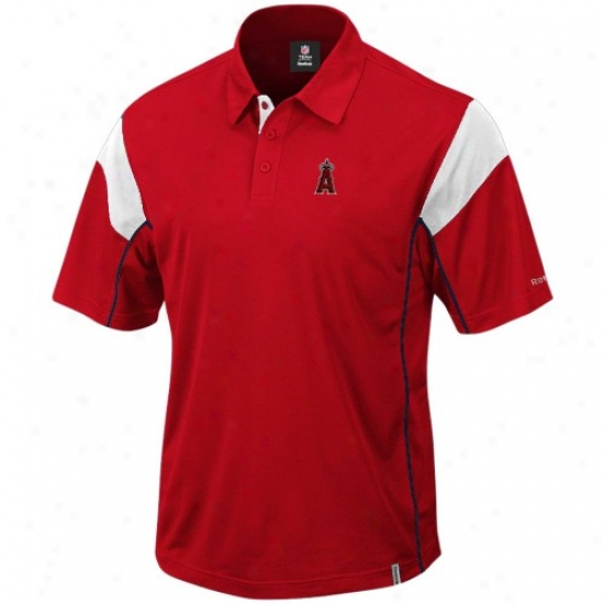 Los Angeles Angels Of Anaheim Clothes: Reebok Los Angeles Angels Of Anaheim Red Victory Polo