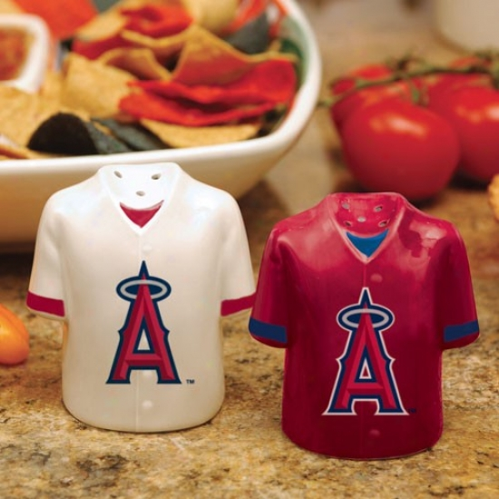 Los Angeles Angels Of Anaheim Gameday Ceramic Salt & Peppper Shakers