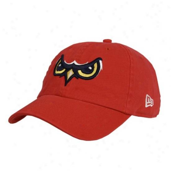 Los Angeles Angels Of Anaheim Hat : New Era Orem Owlz Red Basic Logp Adjustable Slouch Hat