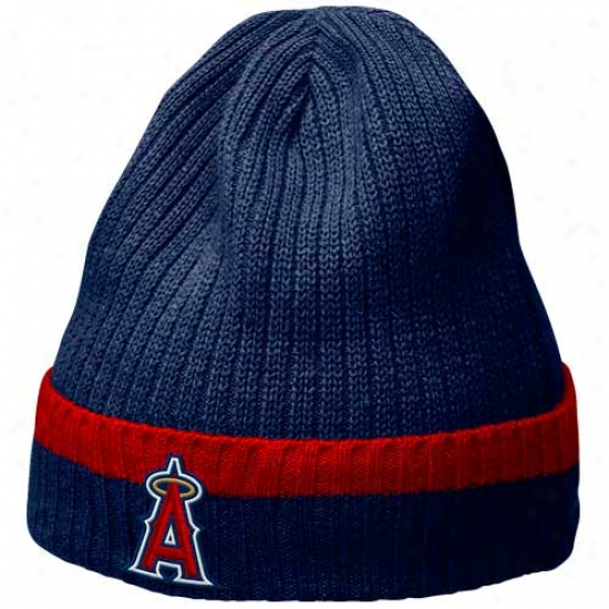 Los Angeles Angels Of Anaheim Hat : Nike Los Angeles Angels Of Anaheim Navy Blue Dugout Beanie