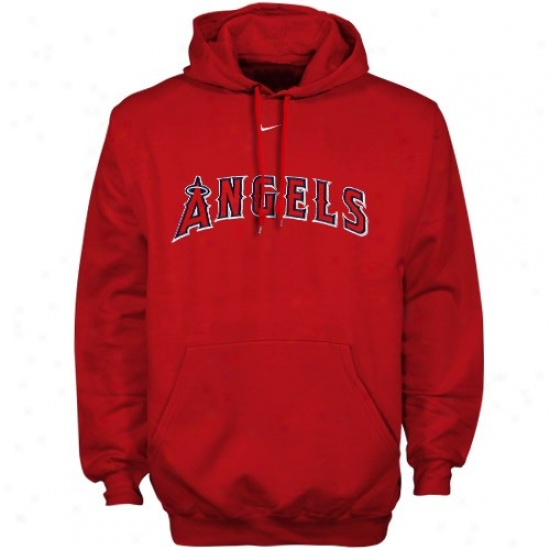 Los Angeles Angels Of Anaheim Hoodie : Nike Los Angeles Angels Of Anaheim Red Hoodie