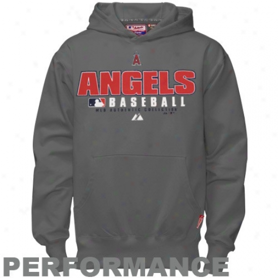 Los Angeles Angels Of Anaheim Hoody : Majestic Los Angeles Angels Of Anaheim Youth Chacoal Ac Classic Therma Base Performance Hoody