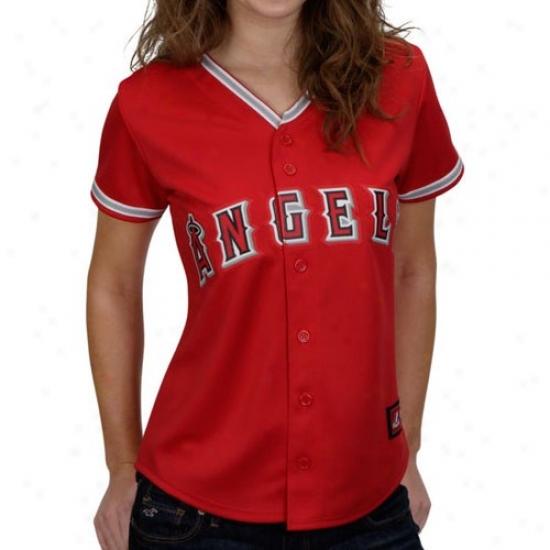 e6e4e791d Los Angeles Angels Of Anaheim Jersey   Majestic Los Angeles Angels Of  Anaheim Ladies Red Replica