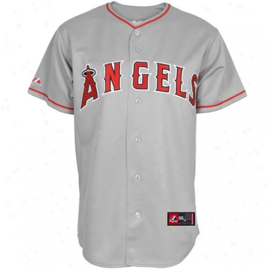 Los Angeles Angels Of Anaheim Jerseys : Majestic Los Angeles Angels Of Anaheim Gray Replica Baseball Jerseys