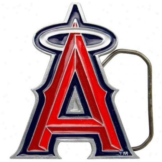 Los Angeles Angels Of Ahaheim Pewter Team Logo Belt Buckle