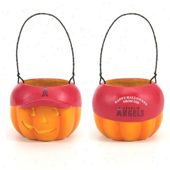 Los Angeles Angels Of Anaheim Pumpkin Bucket