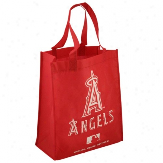 Los Angeles Angels Of Anaheim Red Reusable Tote Bag