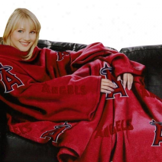Los Angeles Angels Of Anaheim Red Team Logo Print Unisex Comfy Throw