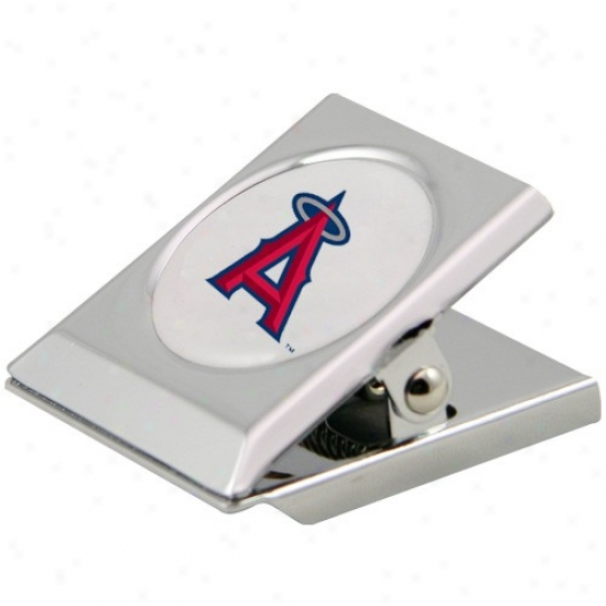 Los Angeles Angels Of Anaheim Silvet Magnetic Heavy Duty Chip Clip