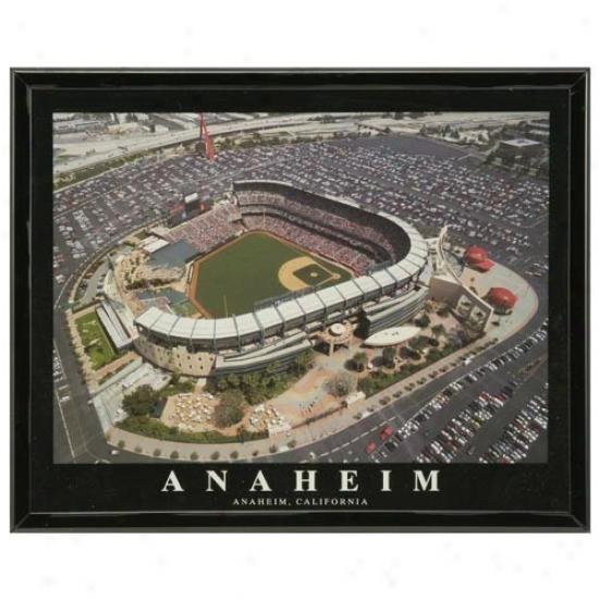 Los Angeles Angels Of Anaheim Stadium 8'' X 10'' Framed Aerial Photograph