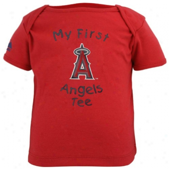 Los Angeles Angels Of Anaheim Tees : Los Angeles Angels Of Anaheim Newborn Red My First Tees Tees