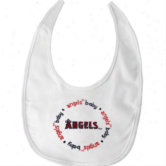 Los Angeles Angels Of Anaheim White Baby Bib