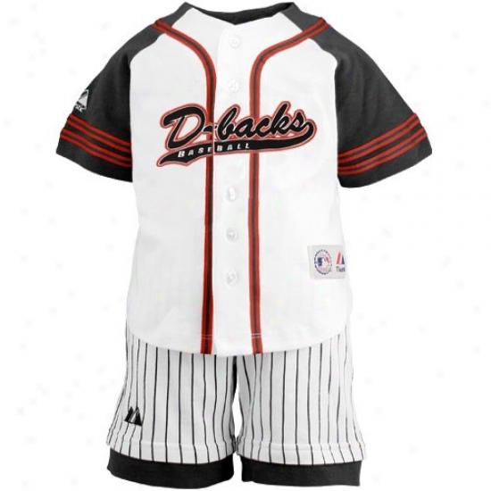 Majestic Arizona Diamondbacks Toddler White Uniform Shorts Set
