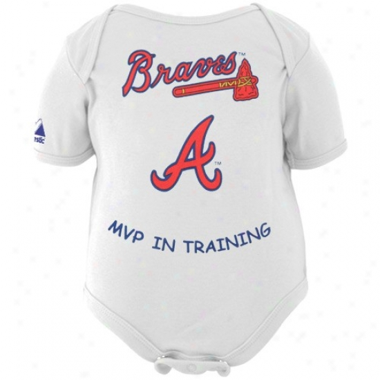 Majestic Atlanta Braves Babe White Mvp In Training Creeper
