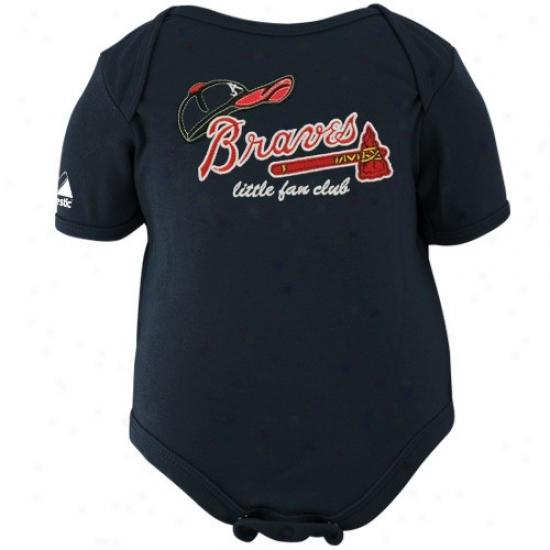 Majestic Atlanta Braves Toddler Navy Blue Little Fan Club Creeeper