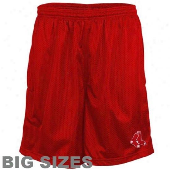 Majestic Boston Red Sox Red Crossbar Full Sizes Shorts
