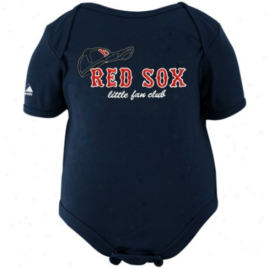 Majestic Boston Red Sox Toddler Navy Blue Little Fan Club Creeper