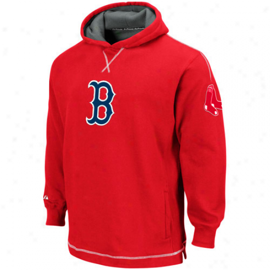 Majestic Boston Red Sox Youth Red The Liberation Pulloverr Hoody Sweatshirt