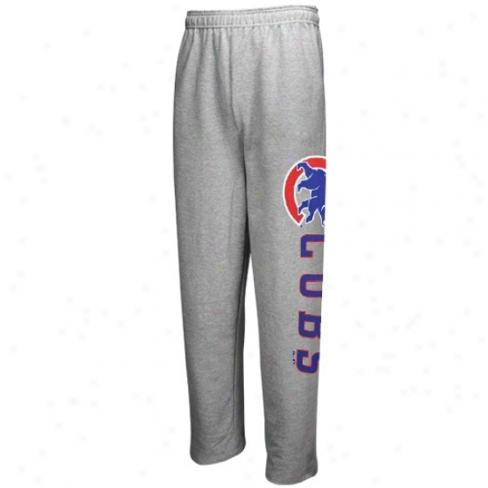 Majestic Chicago Cubs Ash Mlb Fleece Sweatpants