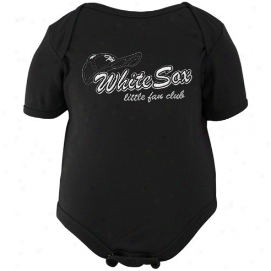 Majestic Chicago White Sox Infant Black Little Fan Club Creeper