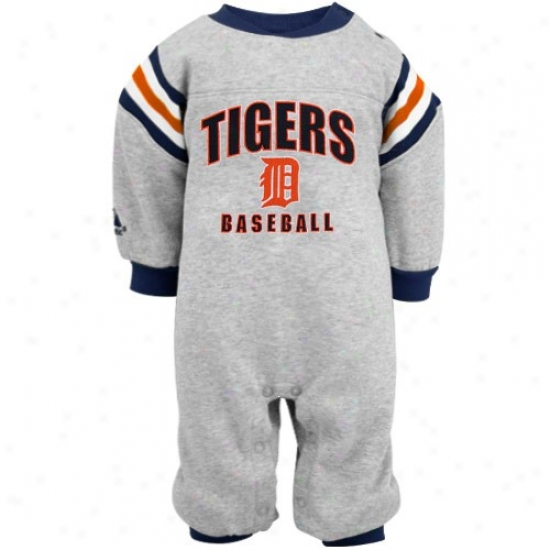 Majestic Detroit Tigers Newborn Ash Coveralls