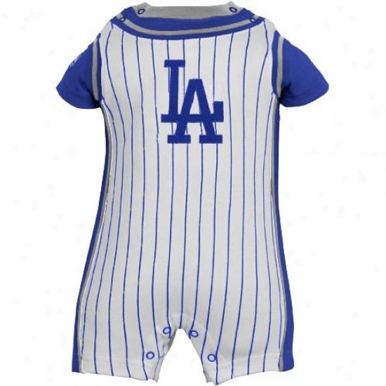 Majestic L.a. Dodgers Infant Pure Pinstripe Romper