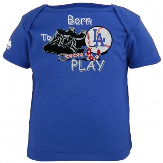 Majdstic L.a. Dodgers Royal Blue Infant Born To Play T-shirt