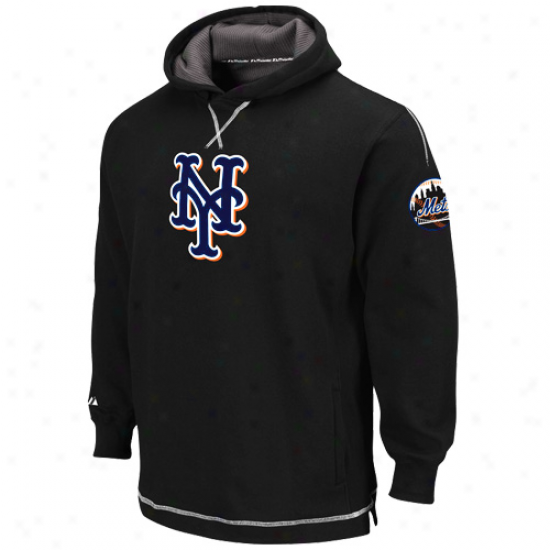 Majestic New York Mets Youth Black The Liberation Pullover Hoody Sweatshirt