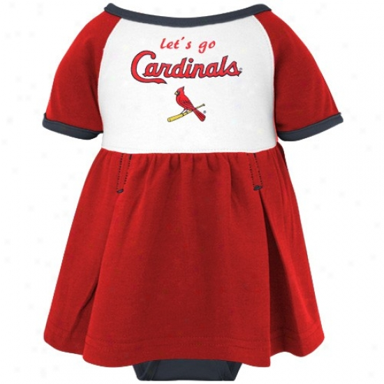 Majestic St. Louis Cardinals Infant Girls Red Creeper Dress