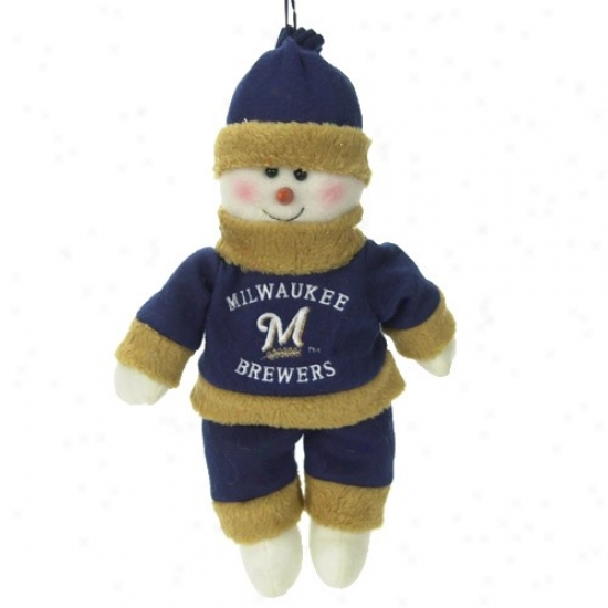 Milwaukee Brewers 10-inch Snowflake Ally Plush