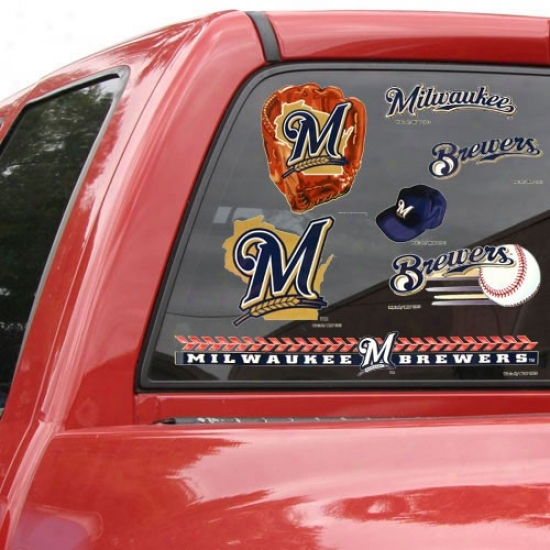 Milwaukee Brewers 11'' X 17'' Window Clings Sheet