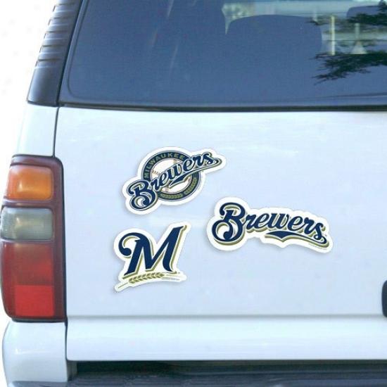 Milwaukee Brewers 12'' 3-pack Magnet Set