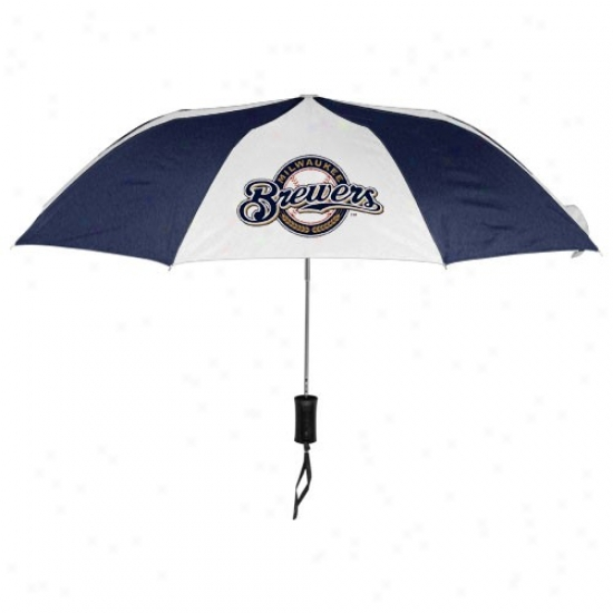 Milwaukee Brewers 42'' Folding Umbrella