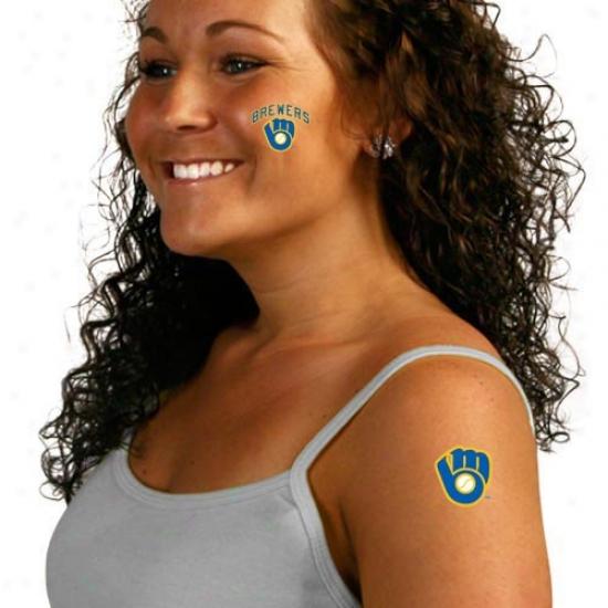 Milwaukee rBewers 8-pack Waterless Temporary Tattoos