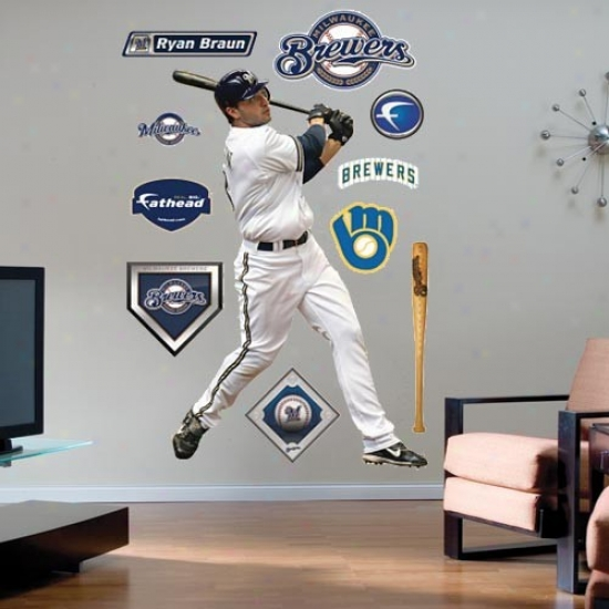 Milwaukee Brewers #8 Ryan Braun Payer Fathead