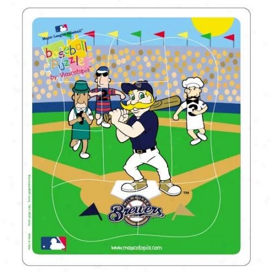 Milwaukee Brewers Baseball Puzzle