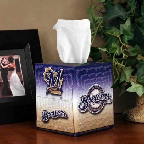 Milwaukee Breeers Box Of Sports Tissues