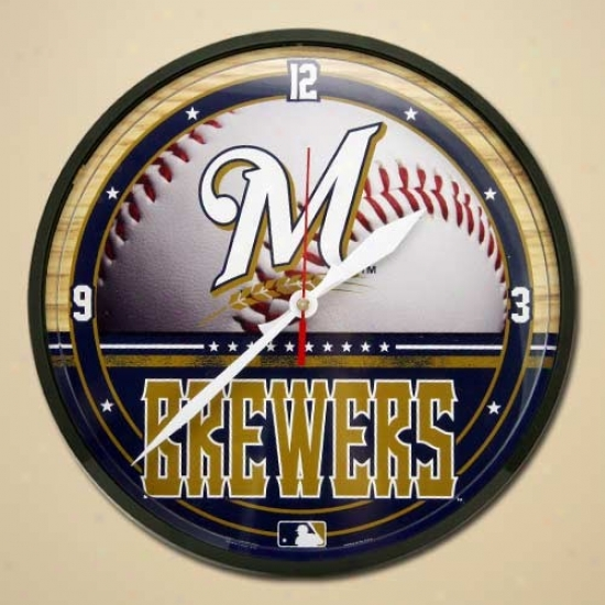 Milwaukee Brewers Dimension Wall Clock
